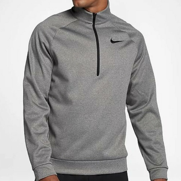 NIKE MEN'S THERMA 14 ZIP TRAINING PULLOVER TOP NWT